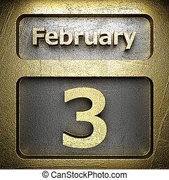 gylden, februar, 3, tegn