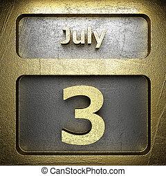 gylden, juli, 3, tegn