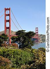 gylden låge bro, san francisco, californien
