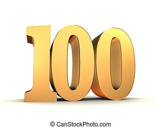 gyllene, 100, -, numrera