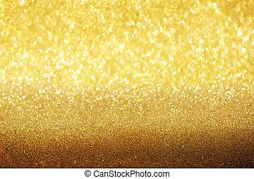 gyllene, abstrakt, bakgrund.