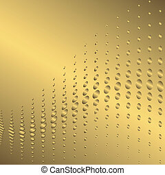 gyllene, abstrakt, bakgrund, (vector)