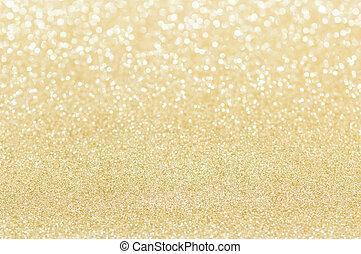 gyllene, abstrakt, glitter, struktur, bakgrund