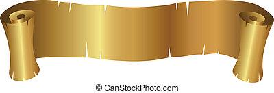 gyllene, baner, lockig