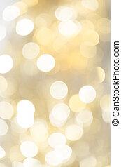 gyllene, bokeh, bakgrund