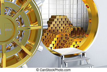 gyllene, bommar för