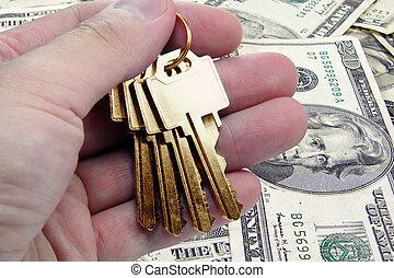 gyllene, framgång, nyckel