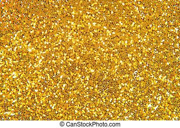 gyllene, glitter, bakgrund