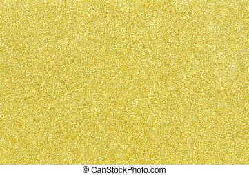 gyllene, glitter, struktur, bakgrund