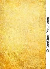 gyllene, grunge, bakgrund
