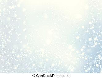 gyllene, helgdag, glitter, bokeh, stjärnor, bakgrund, mjuk, abstrakt, defocused, elegant, förbaskad, jul, bakgrund., färgad, suddig, snowflakes.