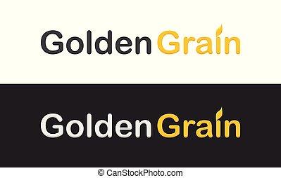 gyllene, korn, logotype