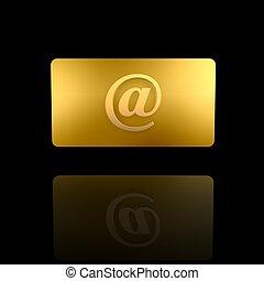 gyllene, kort, internet