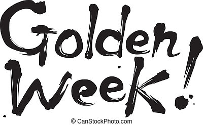 gyllene, lov, vecka, japan