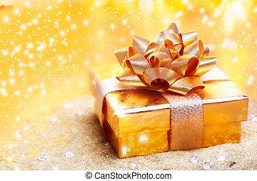 gyllene, lyxvara, gåva