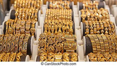 gyllene, marknaden, in, dubai