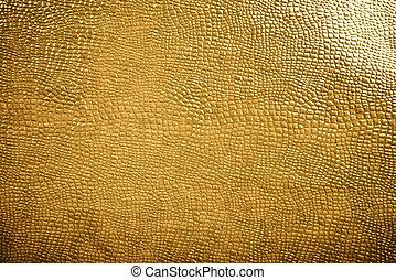 gyllene, reptil, skinn, struktur