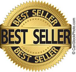 gyllene, säljare, vektor, etikett, illinois, bäst