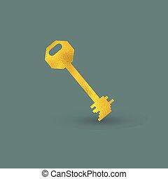 gyllene, singel, nyckel