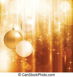 gyllene, stickande, julkort