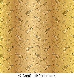 gyllene, stjärna, illustration., mönster, seamless, drawings., bakgrund., vektor, svart, eps10, grunddrag