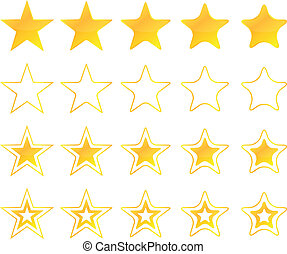 gyllene, stjärnor, ikonen