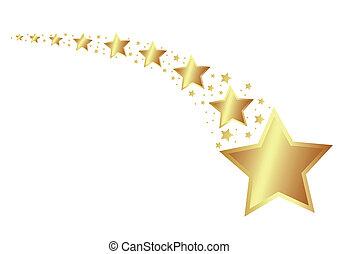gyllene, stjärnor