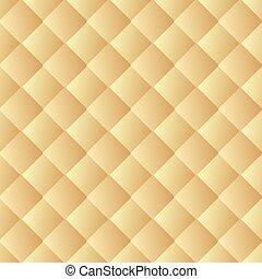 gyllene, struktur, bakgrund., läder, seamless, pattern., vektor