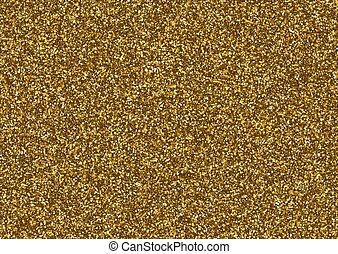 gyllene, struktur, stars., liten, glitter, bestå
