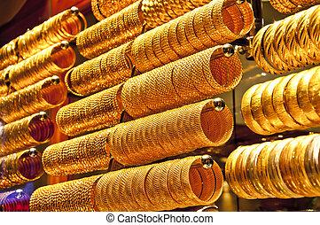 gyllene, tillbehör