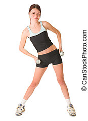 Gym #151 - Woman in gym wear standing with her hands on her ...