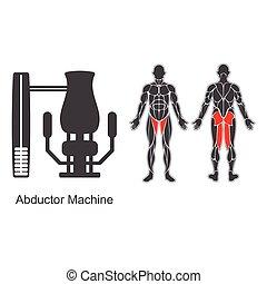 Gym abductor machine