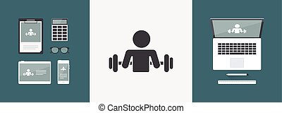 Gym activity - Vector web icon