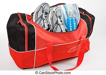 Gym Bag Ready for Workout