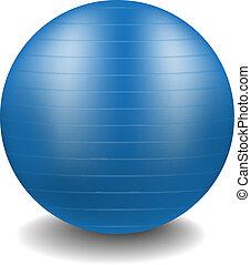 Gym ball in blue design