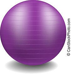 Gym ball in purple design