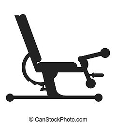 gym bench icon