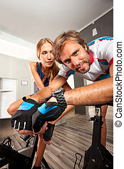 gym cycling bike cardio exercise