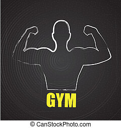 gym  design over black background vector illustration