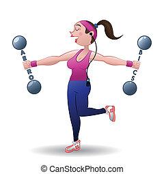 gym design over white background vector illustration
