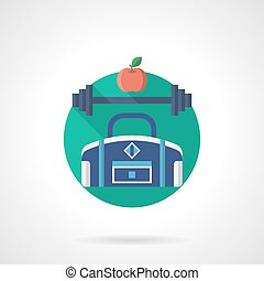 Gym detailed flat color vector icon