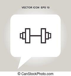 gym dumbbell vector icon