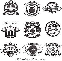 Gym Emblems Set