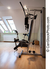 Gym equipment - Domestic gym: equipment for training,...
