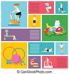 Gym exercises people