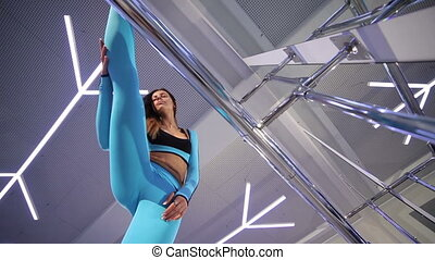 gym., femme, exercice
