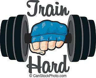 Gym fitness emblem, labels, badges, logo