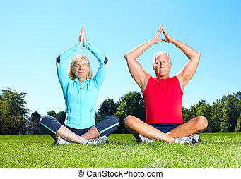 Gym, Fitness, healthy lifestyle. - Senior healthy fitness ...