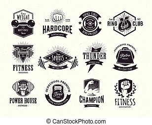 gym fitness logo vector