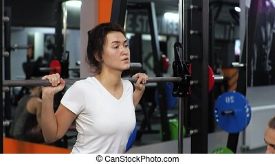 Woman in gym funny